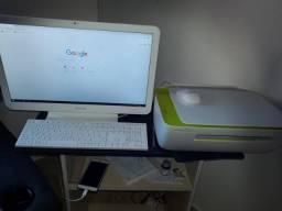 Computador Samsung All in One completo, 6 meses de pouco uso. Impressora HP DeskJet.