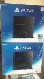 PlayStation 4 500 GB com jogo e garantia