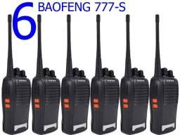 Lote com 6 Radios Comunicadores Baofeng WalkTalk Baofeng 777s Original