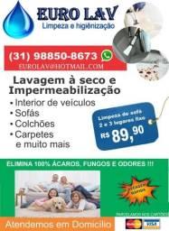 Limpeza de sofá (Melhor preço e qualidade do Olx) / Lavagem a seco