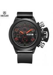 Relógio Megir 2002 Masculino Social Esporte Fino Promoção