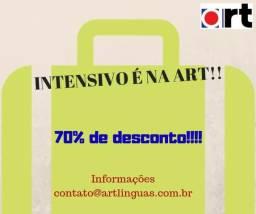Inglês com 70% é na Art!!