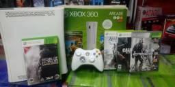 Xbox 360 Destravado + 05 jogos com garantia de 01 ano