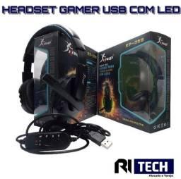 Headset Gamer Knup Kp-359 Led