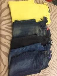 Lote calça 5 calças