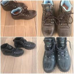Sapatos, tênis, sandália.