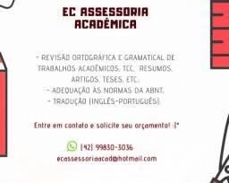 Revisão textual de TCC, trabalhos acadêmicos, artigos, teses, etc