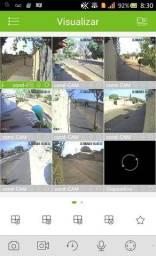 Alarme cerca câmeras com acesso remoto via celular
