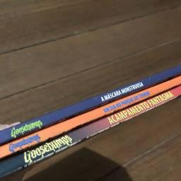 Kit três livros Goosebumps