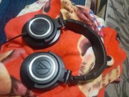 Fone referência áudio technica ATH-M50 profissional