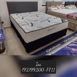 Título do anúncio: Cama cama conjunto base e colchão com painel de cabeceira de brinde