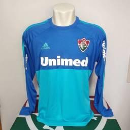 Camisa de goleiro Fluminense azul manga longa