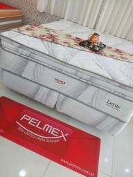 Título do anúncio: Super King Lexus Luxo Pelmex de Molas Ensacadas/Pillow duplo/D33,D28,D28 Cama Fime ..