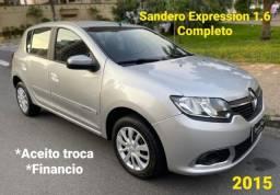 Título do anúncio: Renault Sandero Expression 1.6 2015 Completo