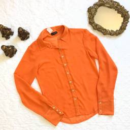 Camisa transparente laranja