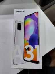 """Título do anúncio: Samsung Galaxy A31 Branco 128GB, 4GB Ram, Tela 6.4"""" Lacrado NF+Garantia de 12 meses"""