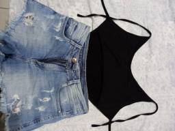Título do anúncio: body love e short jeans