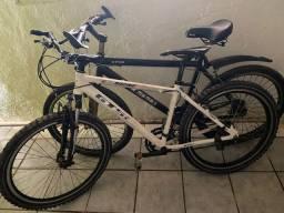 Vendo 2 bicicletas semi nova, toda em alumínio perfeita