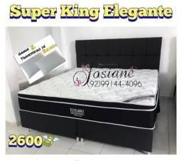 Título do anúncio: CAMA SUPER KING. ELEGANT ORTOBOM MOLAS ENSACADAS