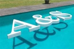 Letras Flutuantes para decoração de piscina