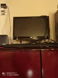 Teclado mouse e monitor