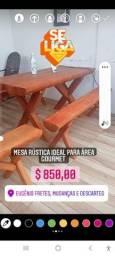 Título do anúncio: Mesa rústica ideal para área gourmet
