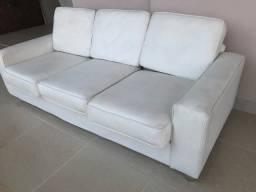 Título do anúncio: Sofa Corino Branco tres lugares
