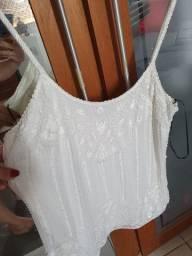 Camiseta bordada branca Canal