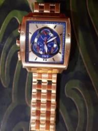 96fd7cb180b Relógio masculino analógico e.w.c emt15313-z dourado