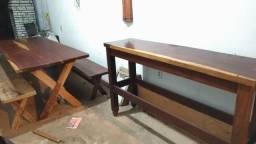 Abaixe o valor de r$ 2.700,00 por r$ 1.850,00 Conjunto de mesa e aparador madeira