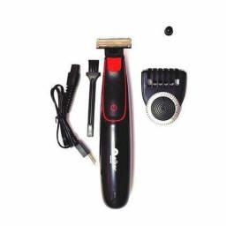 Máquina Aparador De Barba Pelos Elétrica Recarregável Aiker Mag-002