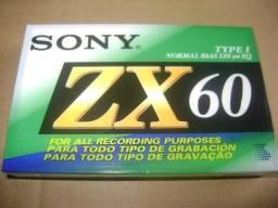 Fitas Cassete Sony ZX 60 lacradas