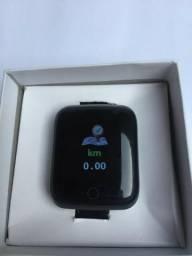 Relógio SmartWatch Fitness Monitor Frequencia Cardiaca Pressão Android Iphone