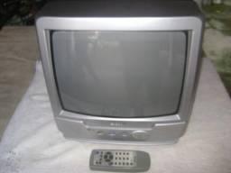 TV portatil 17 polegadas com controle remoto