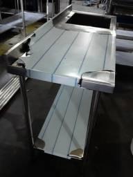 Mesa inox 1.88x60x90 (fábrica)