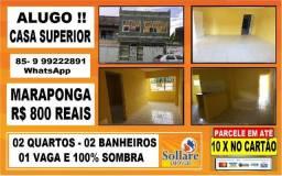 Alugo Casa Com 02 Quartos e Vaga de Garagem na Maraponga: Paulo 9  * zap