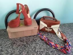 Sapatos e bolça