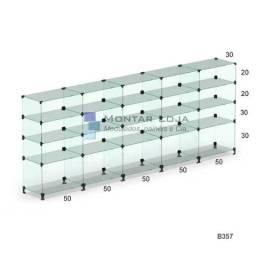 Balcão de vidro blindex