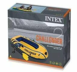 Bote inflável INTEX Challenger 2 com remos e bomba