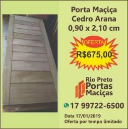 Porta de Entrada Maciça Cedro Arana 0,90cm x 2,10cm