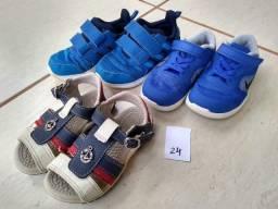 Diversos tênis, sapatênis e sandálias masculino infantil em excelente estado cda99c9e14