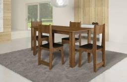 Mesa nicoli 1,10 x 0,68 4 cadeiras rústico - super oferta Black Friday !!!!!