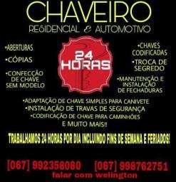 Chaveiro 24h. 067992358080