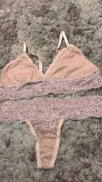 Conjuntinho de lingerie todo rendado