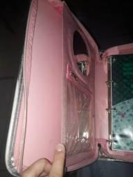 Fichário feminino rosa