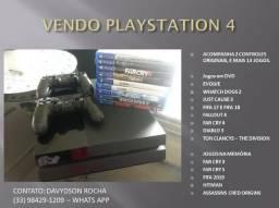 Playstation 4 - 2 controles e 13 jogos