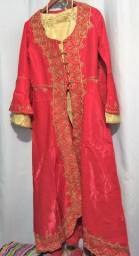 Bindali Vermelho com detalhes em Dourado - Tam. XL