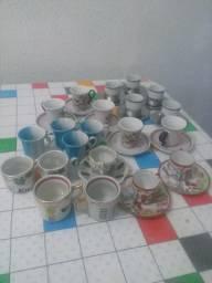 Coleção de xícaras