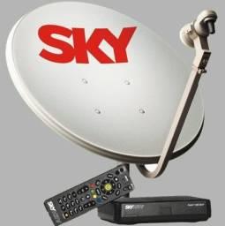 Pré pago sky tv kit completo hd