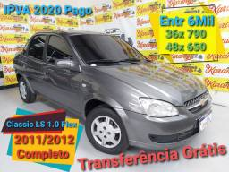 Classic LS 1.0 Completo 2012 Entr 6Mil